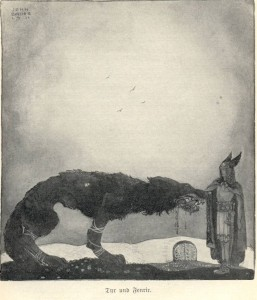'Tyr and Fenrir', John Bauer 1911